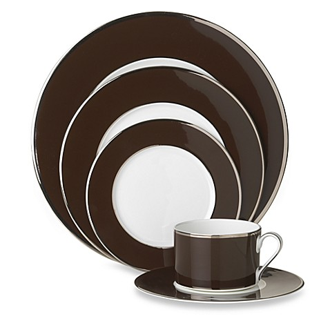 Mikasa® Color Studio Brown and Platinum 5-Piece Place Setting