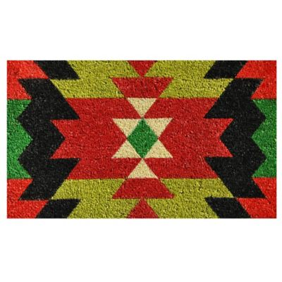 Home U0026 More Aztec Graphic 17 Inch X 29 Inch Multicolor Door Mat