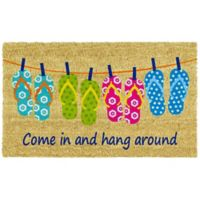 Home & More Flip-Flop Fun 17-Inch x 29-Inch Multicolor Door Mat