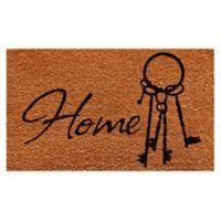 Home & More Home Keys 17-Inch x 29-Inch Multicolor Door Mat
