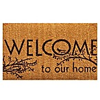 Home & More Welcome 17-Inch x 29-Inch Door Mat in Natural/Brown