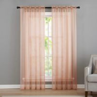 VCNY home Infinity Sheer Rod Pocket 95-Inch Window Curtain Panel in Coral