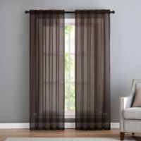 VCNY home Infinity Sheer Rod Pocket 63-Inch Window Curtain Panel in Chocolate