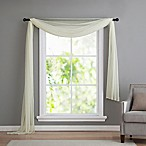 VCNY home Infinity Sheer Rod Pocket Window Scarf Valance in Ivory