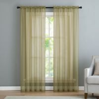 VCNY home Infinity Sheer Rod Pocket 63-Inch Window Curtain Panel in Sage
