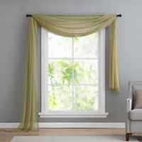 VCNY home Infinity Sheer Rod Pocket Window Scarf Valance in Sage