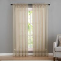 VCNY home Infinity Sheer Rod Pocket 84-Inch Window Curtain Panel in Natural