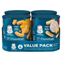 Gerber® Lil' Crunchies® 4-Count Baked Corn Snack Variety Pack in Mild Cheddar and Veggie Dip