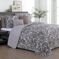 Seville Reversible Queen Quilt Set in Taupe