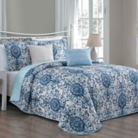 Avondale Manor Trista Reversible Queen Quilt Set in Blue