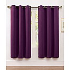 VCNY Home McKenzie Twill 63-Inch Grommet Top Room Darkening Window Curtain Panel in Eggplant