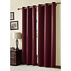VCNY Home McKenzie Twill 84-Inch Grommet Top Room Darkening Window Curtain Panel in Burgundy