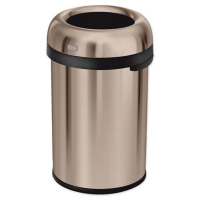 simplehuman 30gallon bullet trash can in rose gold