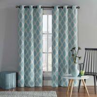 VCNY Home Tribeca 108-Inch Grommet Top Room Darkening Window Curtain Panel Pair in Aqua