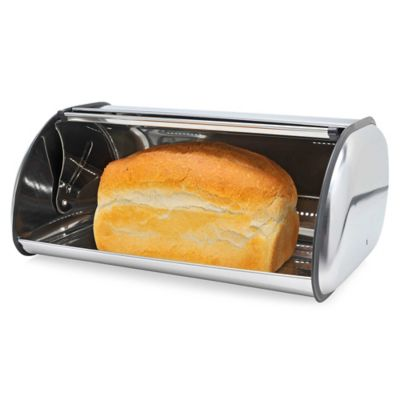 Home Basics® Stainless Steel Bread Box in Silver  sc 1 st  Bed Bath u0026 Beyond & Buy Stainless Steel Storage Box from Bed Bath u0026 Beyond