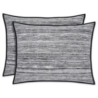 Oscar/Oliver Flen King Pillow Sham in Black
