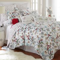 Levtex Home Miracle Reversible Twin Quilt Set in White/Blue