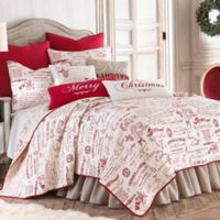 Levtex Home Merry Way Reversible Full/Queen Quilt Set in Red/White