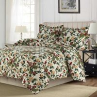 Madrid Paisley Printed Oversized Twin Duvet Cover Set in Blue