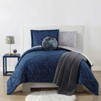 My World Night Sky 2-Piece Twin XL Comforter Set in Midnight Blue