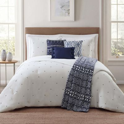 bed pin white bedding pinteres grey and comforter set navy more blue