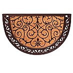 Home & More Ornate Scroll 24-Inch x 36-Inch Door Mat in Natural/Black