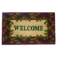 Nature by Geo Crafts Leaves Welcome 18-Inch x 30-Inch Multicolor Door Mat
