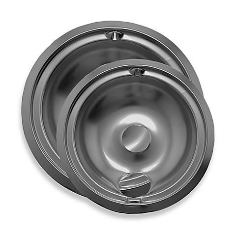 Range Kleen 174 2 Pack Style B Drip Pan In Chrome Bed Bath