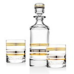 Top Shelf Pure Platinum and Gold 3-Piece Whiskey Set