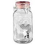 Style Setter 1-Gallon Embossed Beverage Dispenser in Red