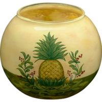 Ne'Qwa Pineapple Glass Candle Holder in Yellow