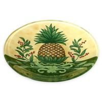 Ne'Qwa Pineapple Glass Plate in Yellow