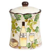 Lorren Home Trends White Grape Cookie Jar