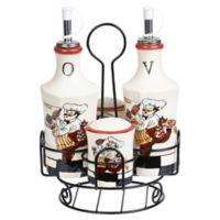 Lorren Home Trends Chef 5-Piece Condiment Set