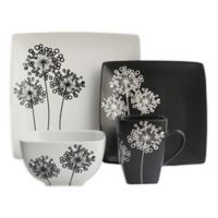American Atelier Marisole 16-Piece Dinnerware Set in Black/White
