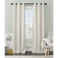 VCNY Home Livingston Foamback 96-Inch Grommet Top Window Curtain Panel Pair in Ivory
