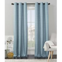 VCNY Home Livingston Foamback 96-Inch Grommet Top Window Curtain Panel Pair in Light Blue
