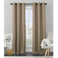 VCNY Home Livingston Foamback 84-Inch Grommet Top Window Curtain Panel Pair in Taupe
