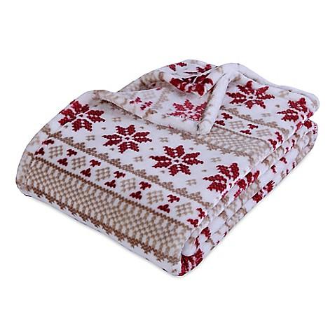 Berkshire Blanket Velvetloft 174 Norwegian Stripe Throw