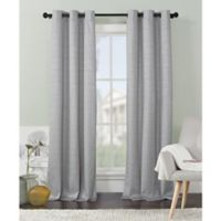 VCNY Home Livingston Foamback 84-Inch Grommet Top Window Curtain Panel Pair in Light Grey