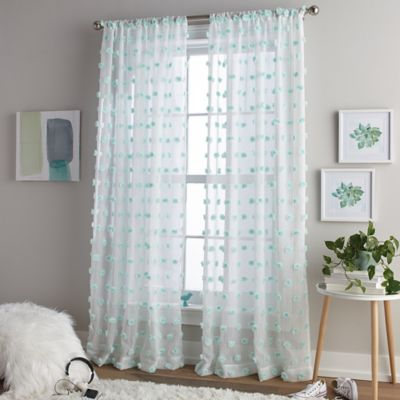 Excellent Buy Aqua Sheer Curtains from Bed Bath & Beyond JD28