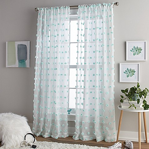 Pom Pom Rod Pocket Window Curtain Panel Bed Bath Amp Beyond