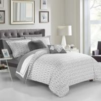 Chic Home Jejomar 9-Piece Reversible Full Comforter Set in Grey