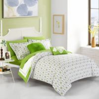 Chic Home Jejomar 7-Piece Reversible Twin Comforter Set in Green