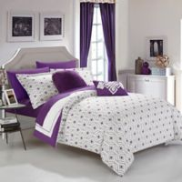 Chic Home Jejomar 9-Piece Reversible Full Comforter Set in Purple
