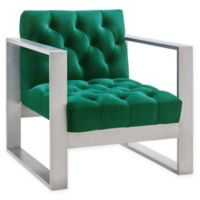 TOV Furniture Oliver Velvet Chair in Green