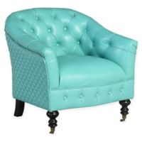 Abbyson Living™ Jonah Top Grain Leather Club Chair in Turquoise