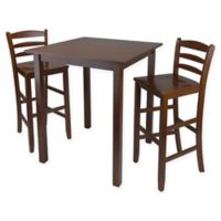 Parkland 3-Piece High Table Dining Set in Antique Walnut