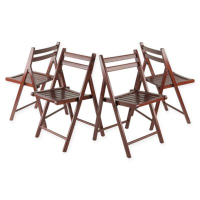 Robin Folding Chairs In Walnut (Set Of 4)