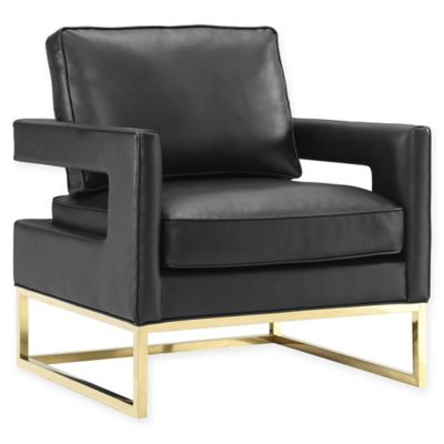 TOV Furniture Avery Leather Club Chair In Black